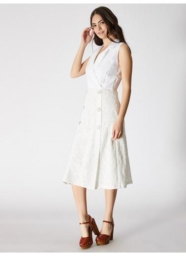 Vekem-Limited Edition Elbise Beyaz